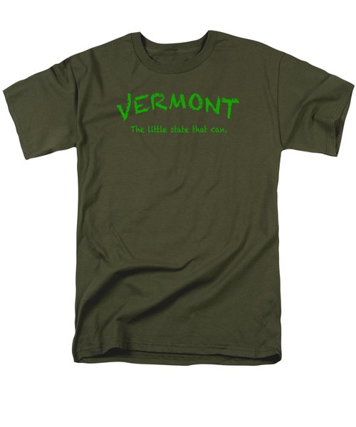 Vermont The Little State Men's T-Shirt  (Regular Fit) by George Robinson