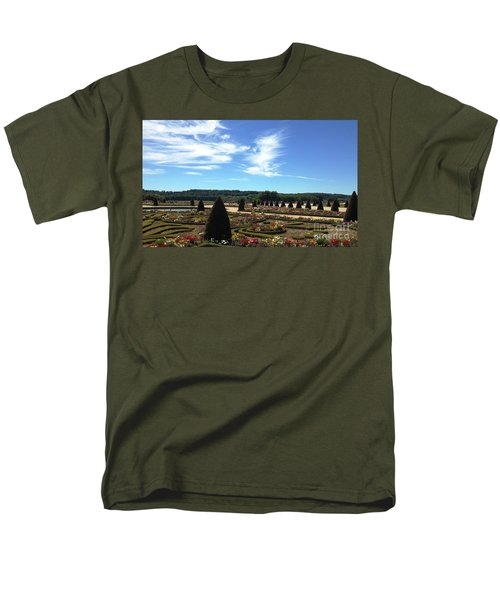 Men's T-Shirt  (Regular Fit) featuring the photograph Versailles Palace Gardens by Therese Alcorn