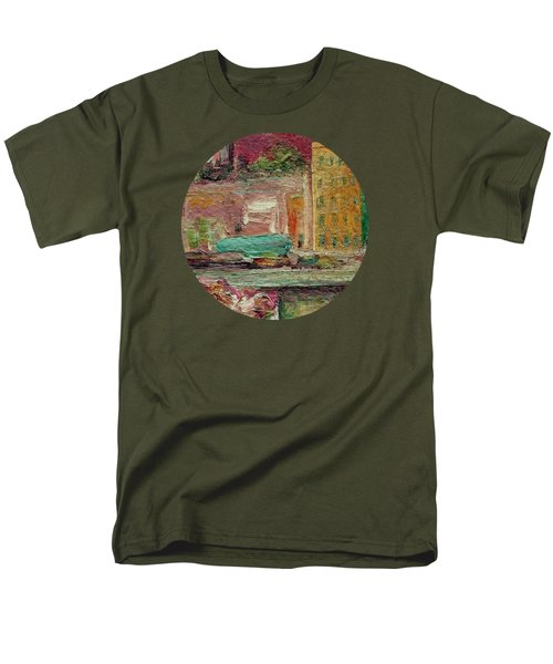 Men's T-Shirt  (Regular Fit) featuring the painting View From A Balcony by Mary Wolf