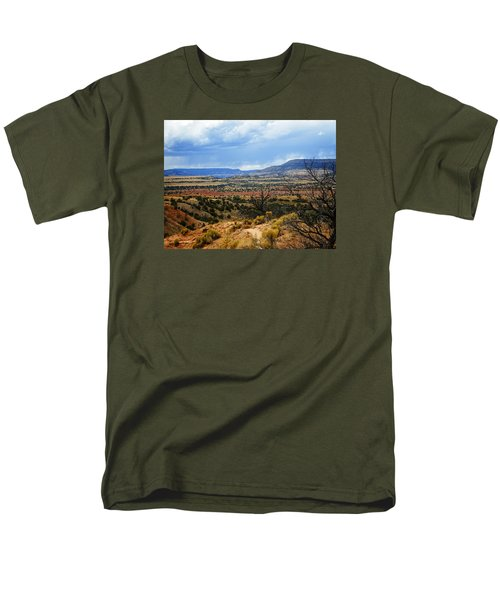 Men's T-Shirt  (Regular Fit) featuring the photograph View From Ghost Ranch, Nm by Kurt Van Wagner