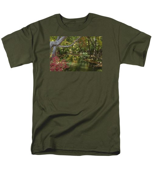 View Of The Mill River Men's T-Shirt  (Regular Fit) by Margie Avellino