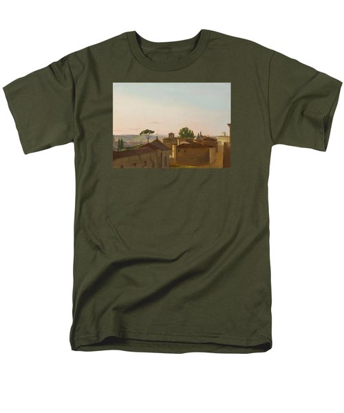 Men's T-Shirt  (Regular Fit) featuring the painting View On The Quirinal Hill. Rome by Simon Denis