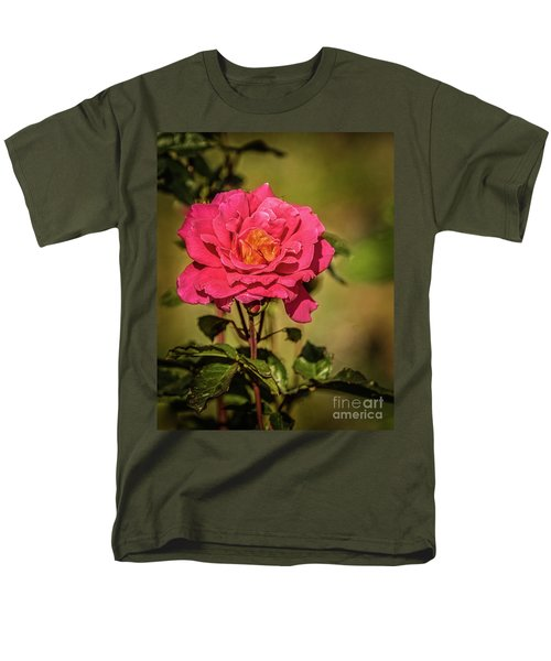 Vignetted  Rose Men's T-Shirt  (Regular Fit) by Robert Bales