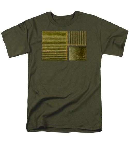 Vineyard From Above Men's T-Shirt  (Regular Fit) by Diane Diederich