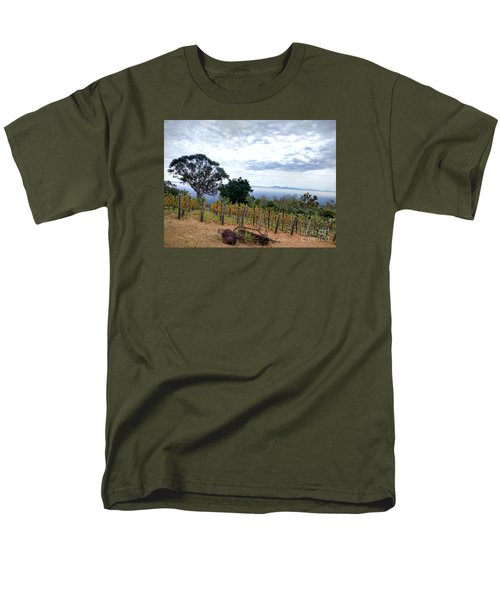 Men's T-Shirt  (Regular Fit) featuring the photograph Vineyard Over The City by Haleh Mahbod