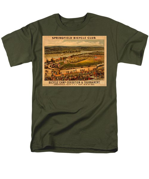 Men's T-Shirt  (Regular Fit) featuring the photograph Vintage 1883 Springfield Bicycle Club Poster by John Stephens