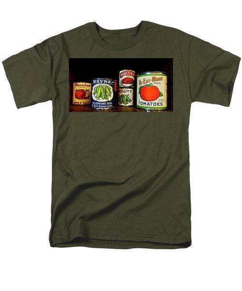 Vintage Canned Vegetables Men's T-Shirt  (Regular Fit) by Joan Reese
