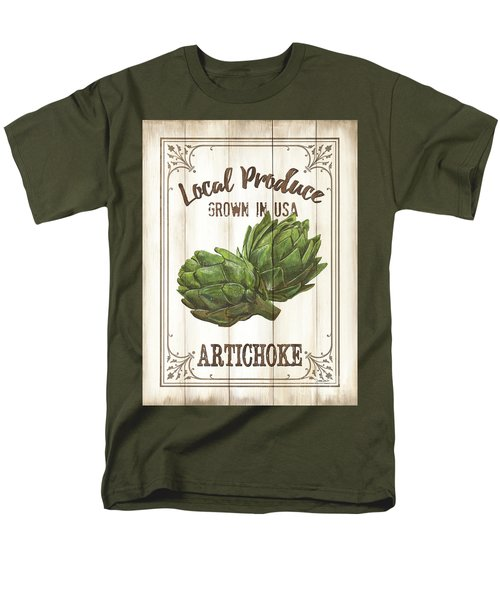 Vintage Fresh Vegetables 2 Men's T-Shirt  (Regular Fit) by Debbie DeWitt