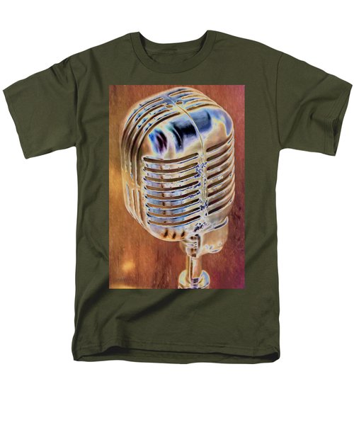 Vintage Microphone Men's T-Shirt  (Regular Fit) by Pamela Williams