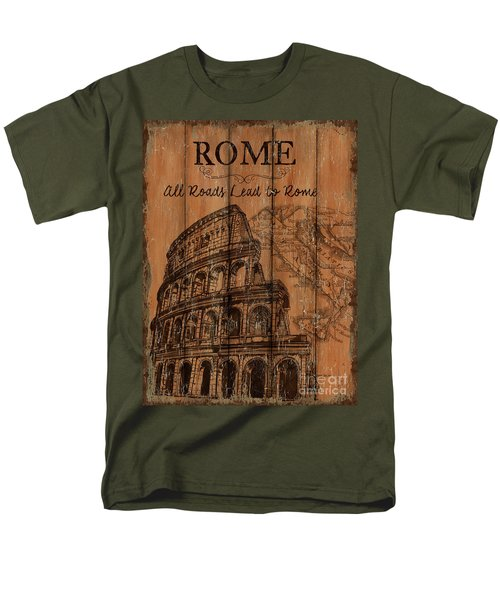Men's T-Shirt  (Regular Fit) featuring the painting Vintage Travel Rome by Debbie DeWitt