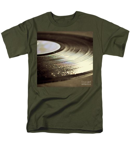 Men's T-Shirt  (Regular Fit) featuring the photograph Vinyl Record by Lyn Randle