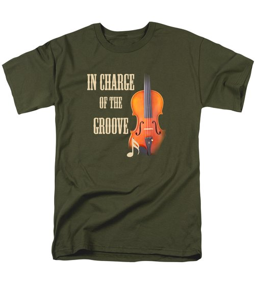 Violin Violas In Charge Of The Groove 5539.02 Men's T-Shirt  (Regular Fit) by M K  Miller