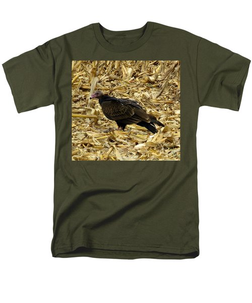 Vulture In The Corn Field  Men's T-Shirt  (Regular Fit) by Keith Stokes