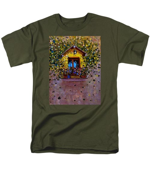 Men's T-Shirt  (Regular Fit) featuring the painting Waiting For You..3 by Cristina Mihailescu