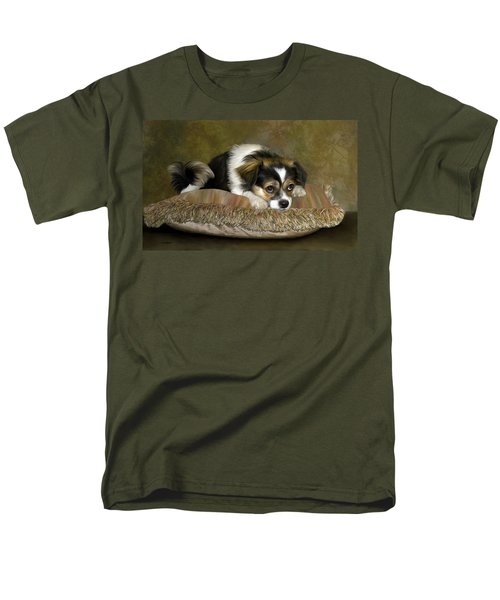 Men's T-Shirt  (Regular Fit) featuring the digital art Waiting by Thanh Thuy Nguyen