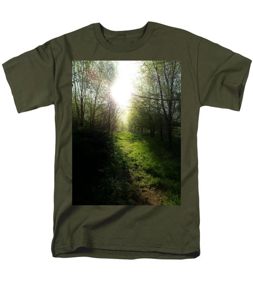 Walk In The Woods Men's T-Shirt  (Regular Fit) by Michele Carter