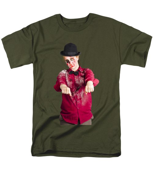 Men's T-Shirt  (Regular Fit) featuring the photograph Walking Dead Zombie Woman by Jorgo Photography - Wall Art Gallery