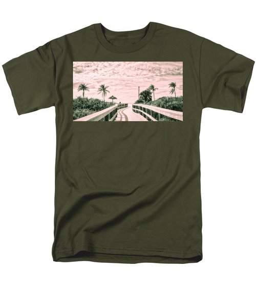 Walkway To The Beach Men's T-Shirt  (Regular Fit) by Robert FERD Frank