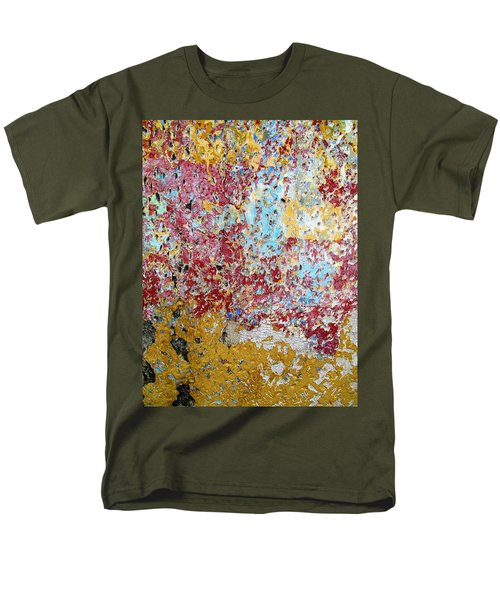 Wall Abstract 123 Men's T-Shirt  (Regular Fit) by Maria Huntley