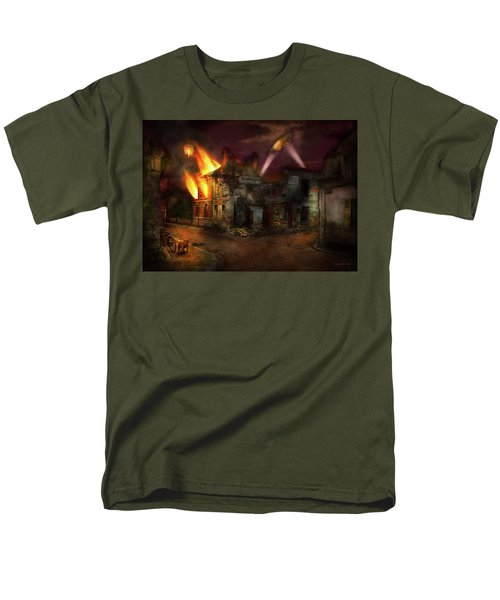 Men's T-Shirt  (Regular Fit) featuring the photograph War - Wwi - Not Fit For Man Or Beast 1910 by Mike Savad