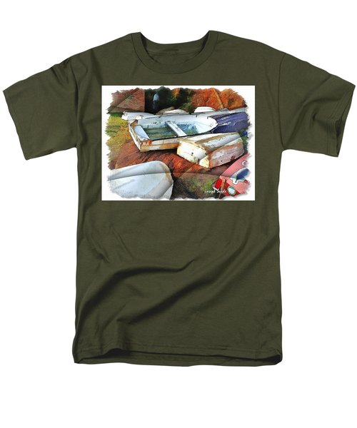 Wat-0012 Tender Boats Men's T-Shirt  (Regular Fit) by Digital Oil