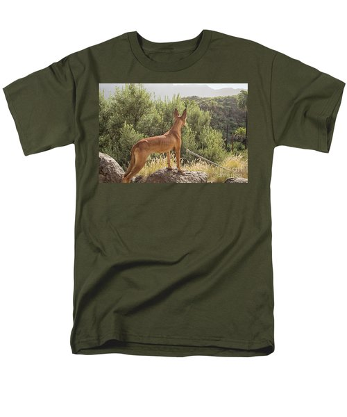 Watchful Dog Men's T-Shirt  (Regular Fit) by Patricia Hofmeester