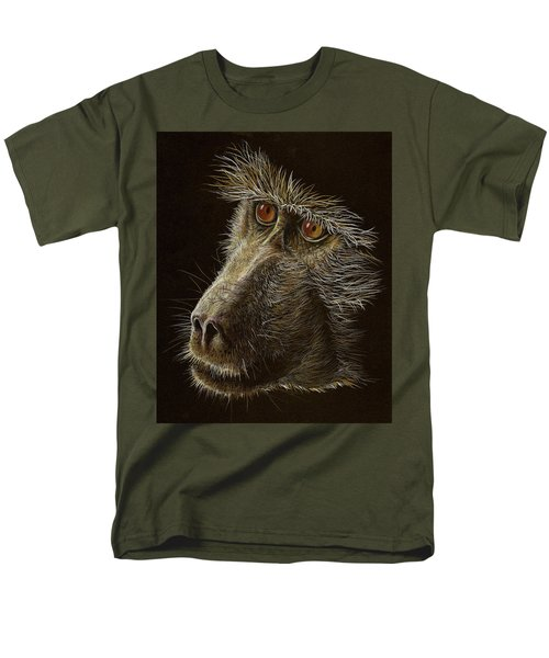 Men's T-Shirt  (Regular Fit) featuring the drawing Watching You by Heidi Kriel