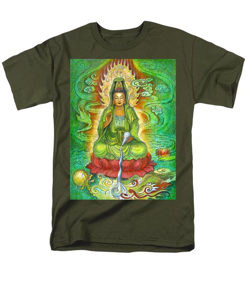 Water Dragon Kuan Yin Men's T-Shirt  (Regular Fit) by Sue Halstenberg