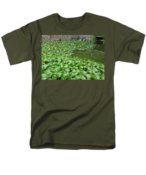 Water Lilies In The Moat Men's T-Shirt  (Regular Fit) by Susan Lafleur