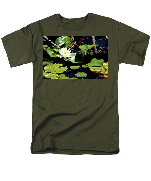Men's T-Shirt  (Regular Fit) featuring the photograph Water Lily by Meta Gatschenberger