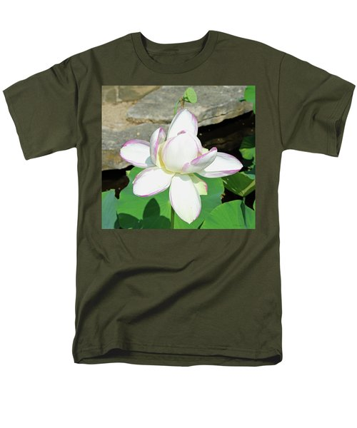 Water Lotus Men's T-Shirt  (Regular Fit) by Inspirational Photo Creations Audrey Woods