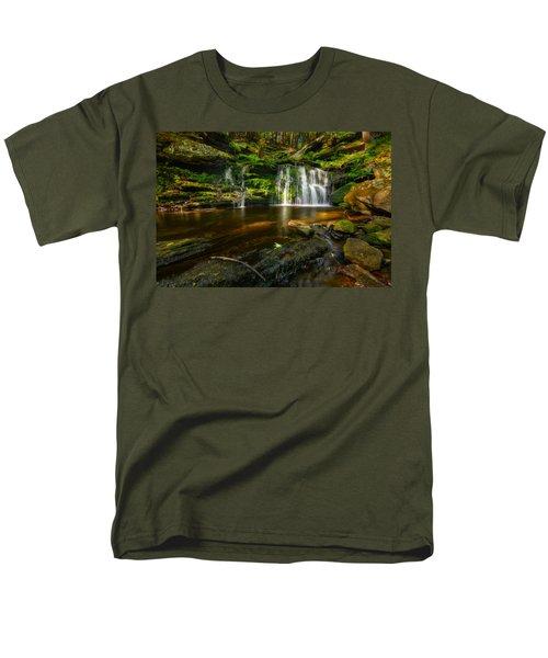 Waterfall At Day Pond State Park Men's T-Shirt  (Regular Fit) by Craig Szymanski