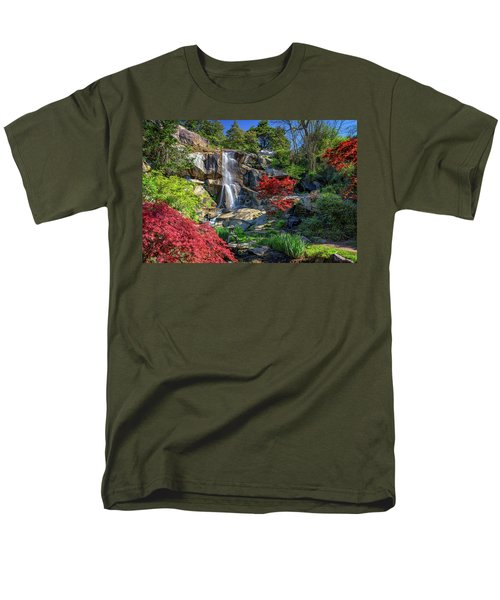 Men's T-Shirt  (Regular Fit) featuring the photograph Waterfall At Maymont by Rick Berk