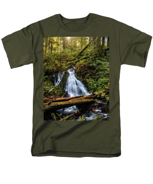 Waterfall Men's T-Shirt  (Regular Fit) by Keith Boone