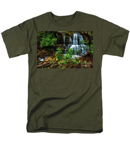 Men's T-Shirt  (Regular Fit) featuring the photograph Waterfall On Back Fork by Thomas R Fletcher