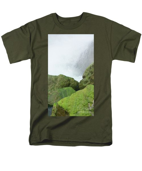 Men's T-Shirt  (Regular Fit) featuring the photograph Waterfall by Raymond Earley