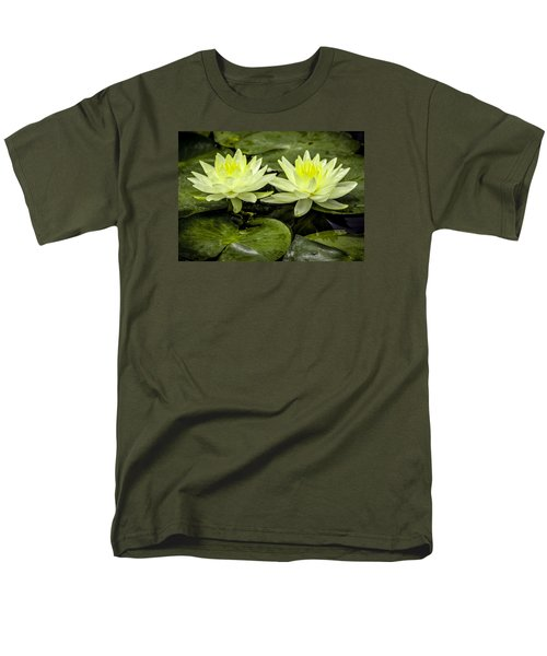 Waterlily Duet Men's T-Shirt  (Regular Fit) by Venetia Featherstone-Witty