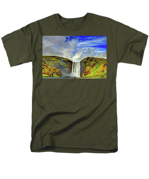 Men's T-Shirt  (Regular Fit) featuring the photograph Watermall And Mist by Scott Mahon