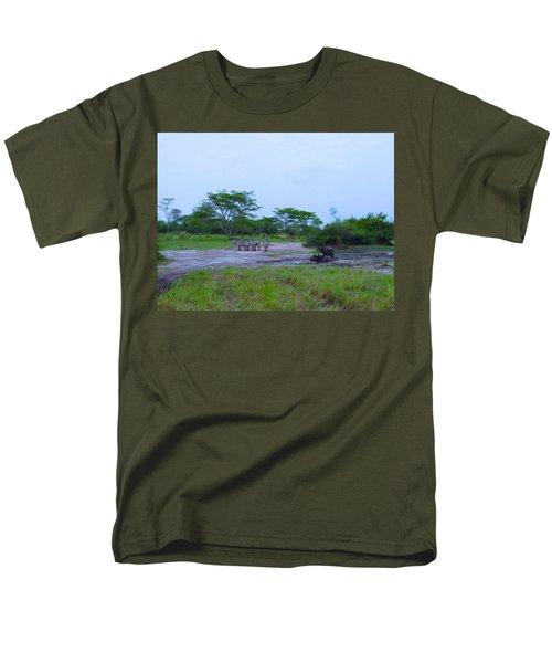 We Live Happily Side By Side Men's T-Shirt  (Regular Fit) by Exploramum Exploramum