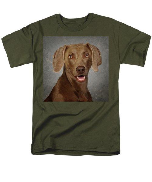 Weimaraner Men's T-Shirt  (Regular Fit) by Greg Mimbs