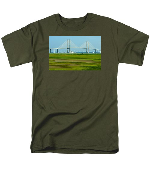 Men's T-Shirt  (Regular Fit) featuring the photograph Welcome To Brunswick by Laura Ragland
