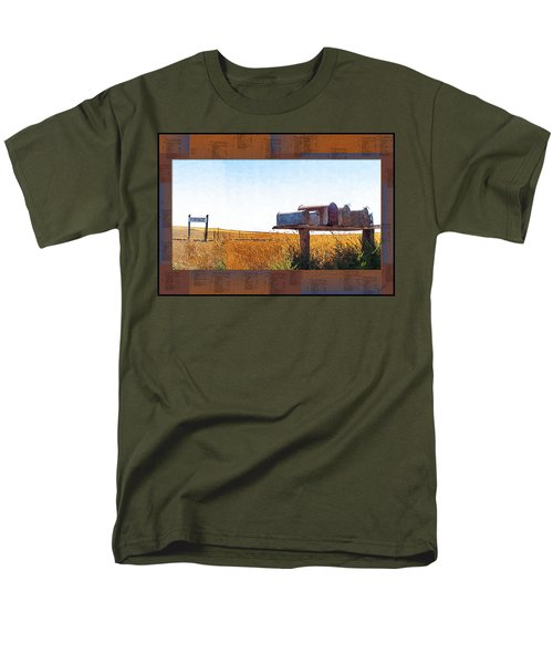 Men's T-Shirt  (Regular Fit) featuring the photograph Welcome To Portage Population-6 by Susan Kinney