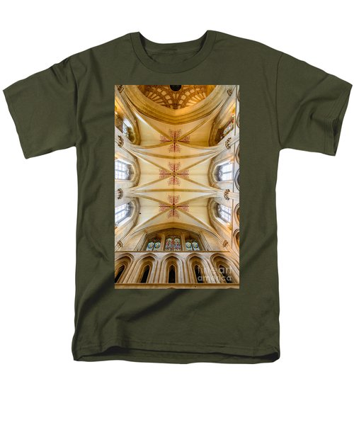 Wells Cathedral Ceiling Men's T-Shirt  (Regular Fit) by Colin Rayner
