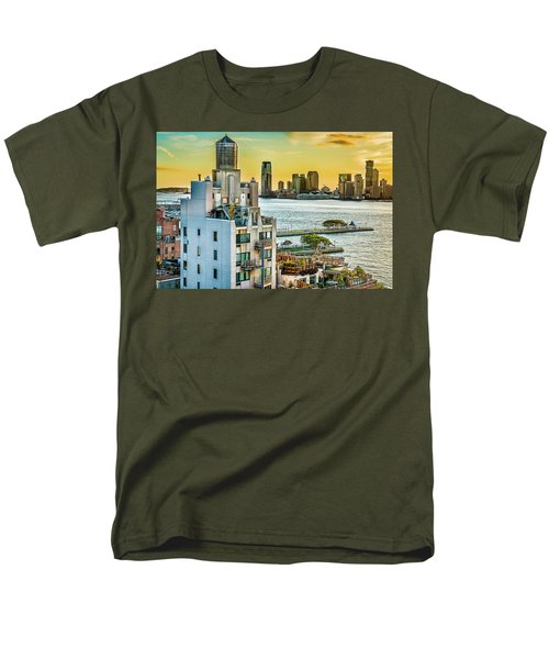 Men's T-Shirt  (Regular Fit) featuring the photograph West Village To Jersey City Sunset by Chris Lord