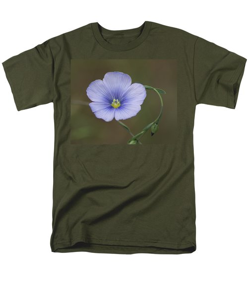 Men's T-Shirt  (Regular Fit) featuring the photograph Western Blue Flax by Ben Upham III