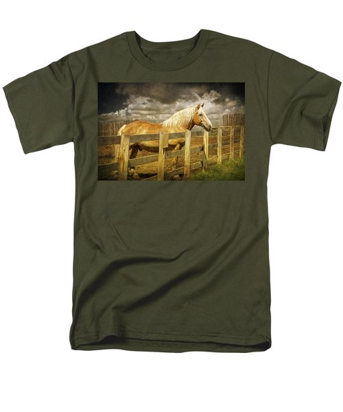 Western Horse In Alberta Canada Men's T-Shirt  (Regular Fit) by Randall Nyhof