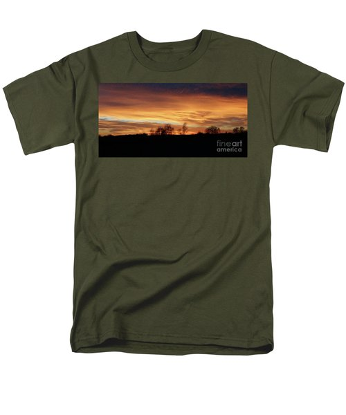 Men's T-Shirt  (Regular Fit) featuring the photograph Western Sky December 2015 by J L Zarek