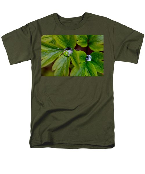 Wet Bleeding Heart Leaves Men's T-Shirt  (Regular Fit) by Brent L Ander