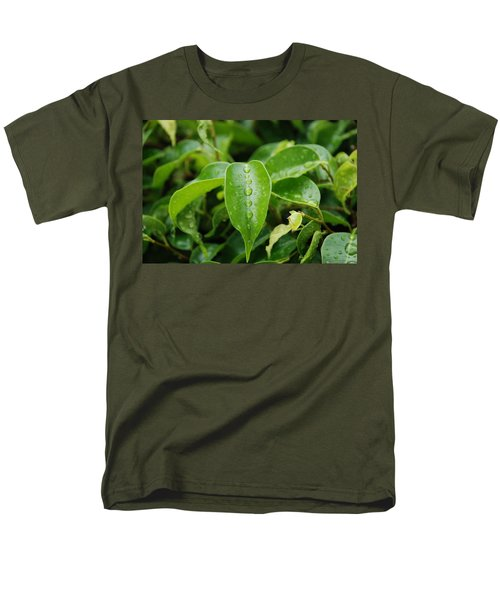 Men's T-Shirt  (Regular Fit) featuring the photograph Wet Bushes by Rob Hans