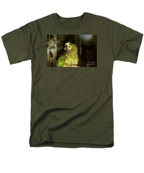 Men's T-Shirt  (Regular Fit) featuring the photograph Wet Parrot by Melissa Messick